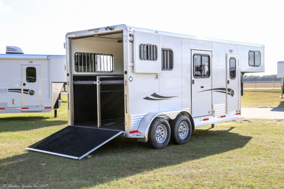 2018 Shadow 2 Horse Kingpro Straight Load Gooseneck