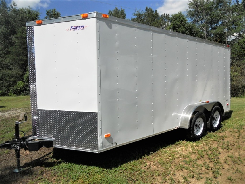 2017 Freedom 7 39 X 16 39 Enclosed Cargo Trailer With Double Doors