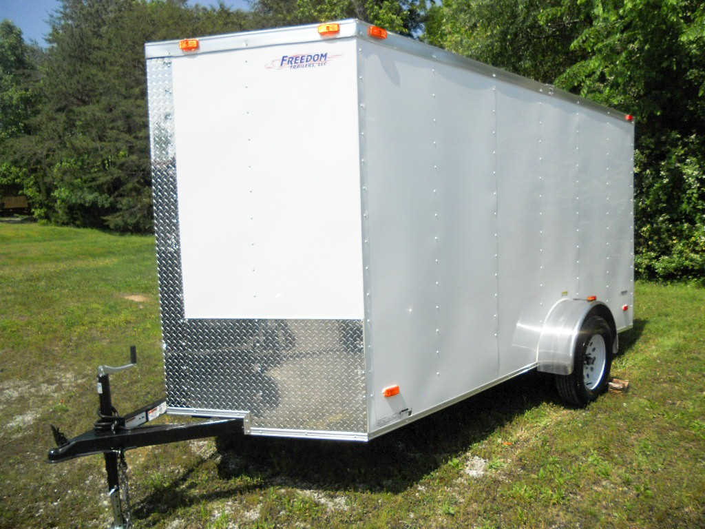 2018 Freedom Trailers 6 X 12 Enclosed Trailer W Double Cargo Doors SKU 60107