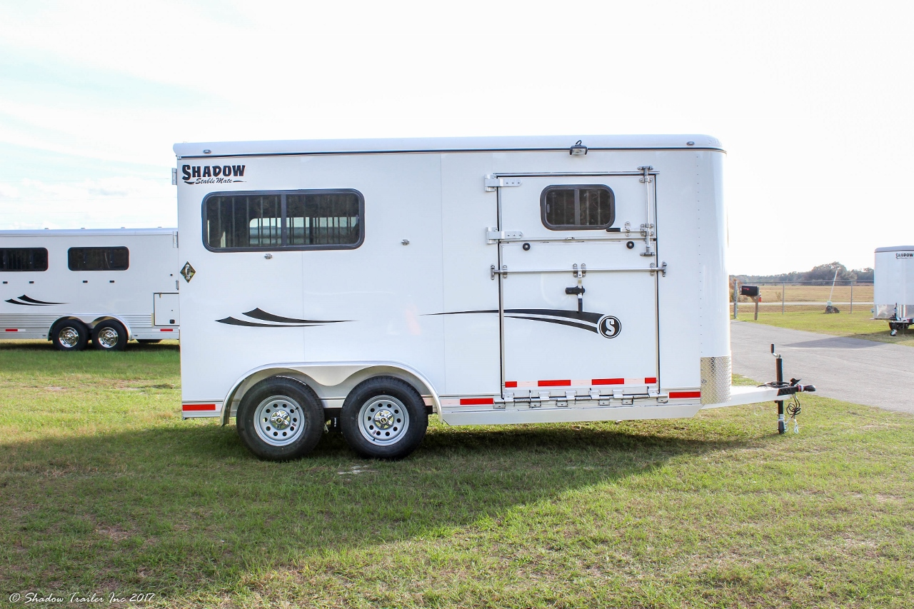 2017 Shadow 2 Horse Kingmate Straight Load With Side Ramp